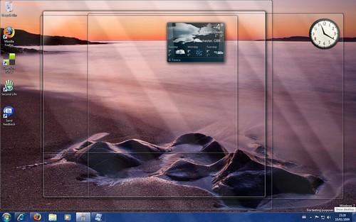 Show desktop hover