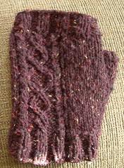 left fingerless mitt