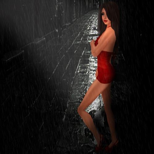 Hiding from the rain