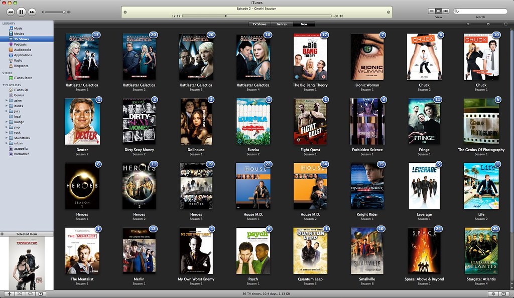 avi on itunes (tv shows)