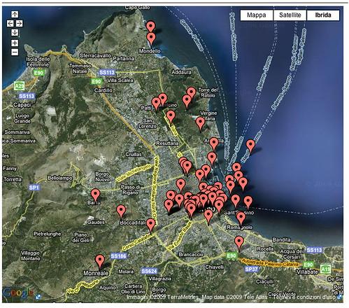 Mappa letteraria di Palermo