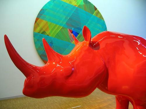 Red Rhinoceros at the Pompidou.