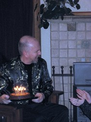 Michael with cake