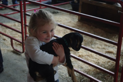 a girl and her goat