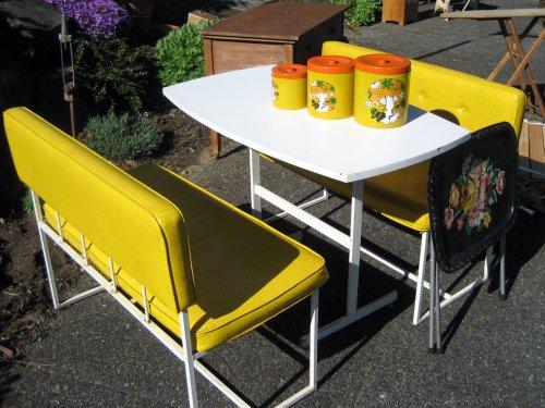 Yellow dinette set