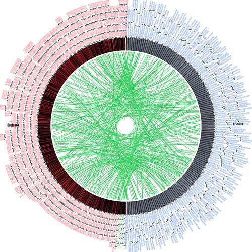 Sample Twitter Genetic Map