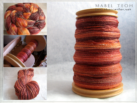 Nectarine in Superwash Merino/Seacell from JulieSpins