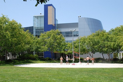 Beachvolley court at Google Campus