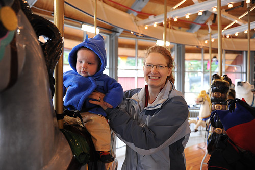 Patrick & Mama on the Carousel