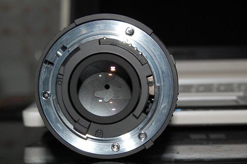 Trasera Nikkor 50mm 1.8D (f/22)