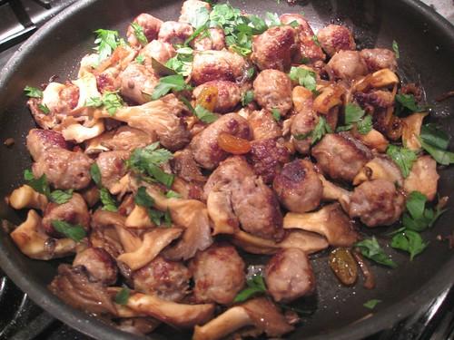 Catalan Sausage and Mushrooms