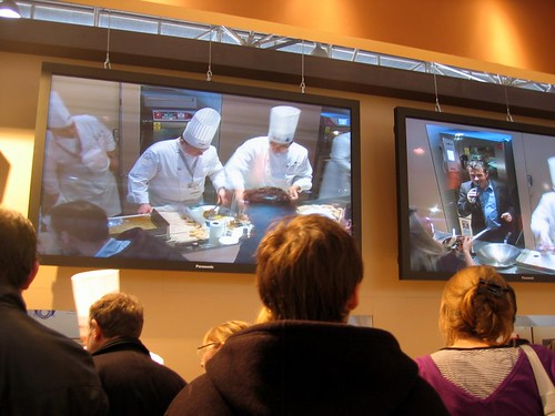 Chefs working at Sirha in Lyon.