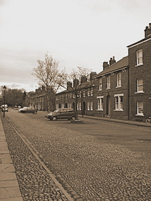 Looking down one of the streets within the community. You get a feel for the quietness straight away.