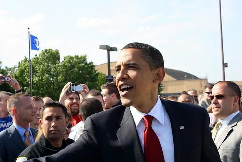 Obama on Tarmac