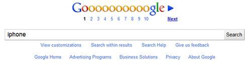 google footer