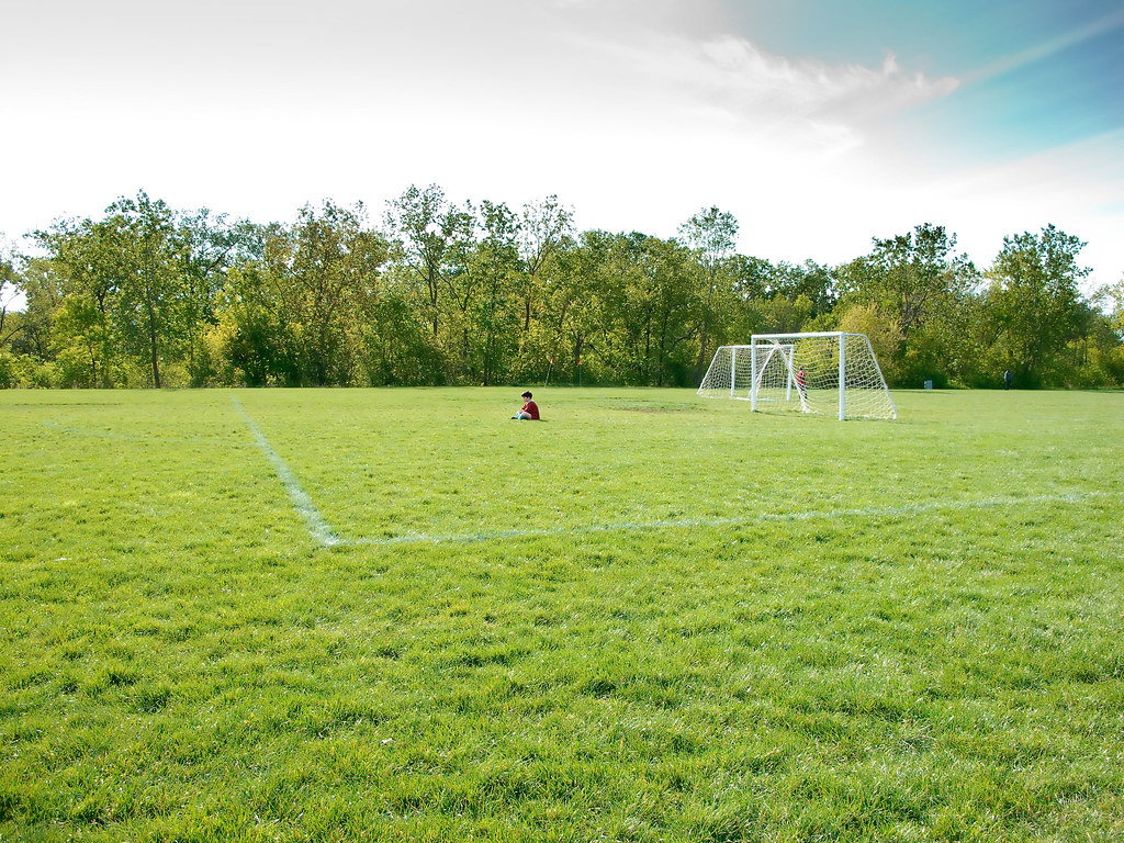 lonely soccer player