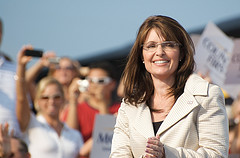 Sarah Palin at the August 31st Road to the Convention Rally. This was taken just after she entered, before John McCain delivered his speech to over 10,000 supporters in the T.R. Hughes Baseball Stadium in OFallon, MO.