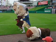 Washington Nationals racing president Teddy Roosevelt collapses