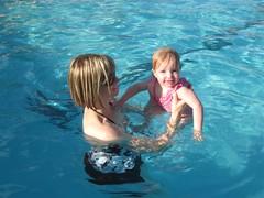 Wiggly Selah in the Pool