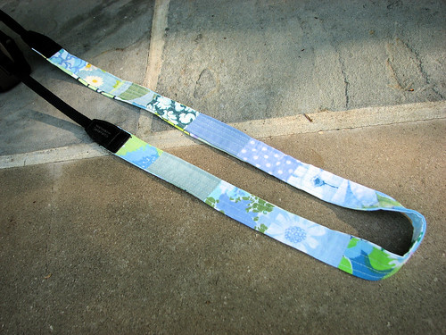 Patchwork camera strap