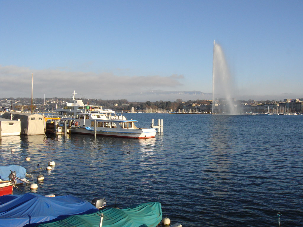 Lago Leman (chorro en Ginebra)
