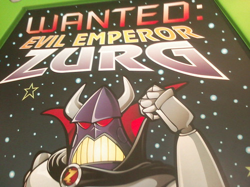 Then we went to go fight the evil Emperor Zurg