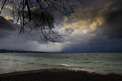 Hafen Staad bei Sturm