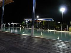 La lagoon a Cairns, di notte