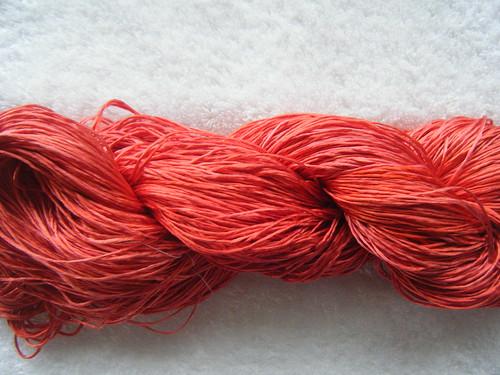 110g Fibreworks pure silk of indeterminate meterage/weight in peach