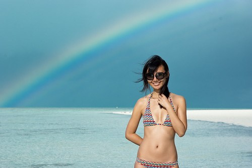 Rainbow on Heron Island, Great Barrier Reef
