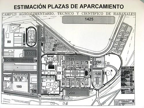 Plan futuro de aparcamientos para cochistas en el Campus de Rabanales.