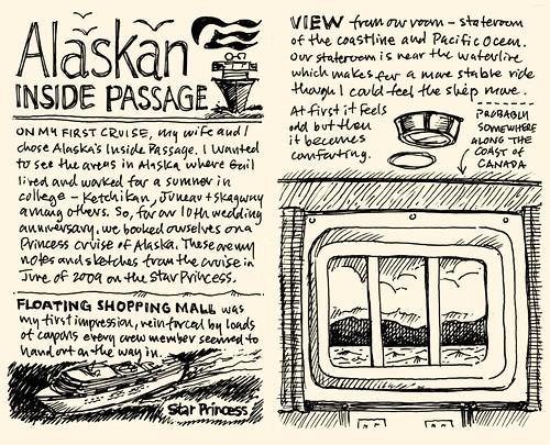 Alaskan Cruise '09: Sketchnotes 01-02