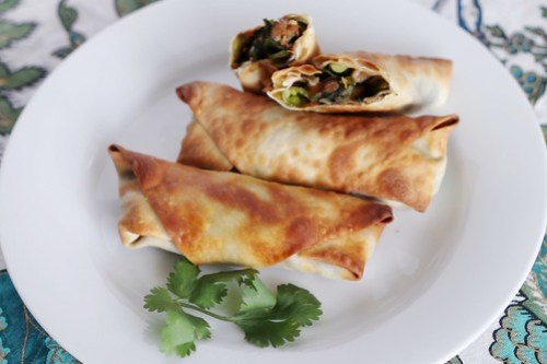 homemade vegetarian eggrolls
