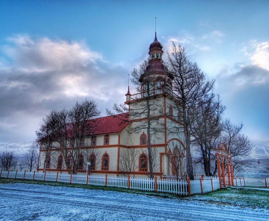 A Church in the Snow (by Stuck in Customs)