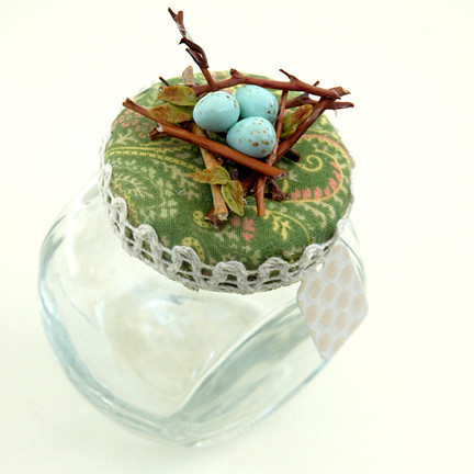 Bird Nest with Robin Eggs