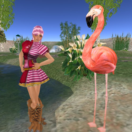 Adaire embraces her inner flamingo!