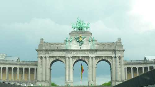 Parc 50enaire with the Belgian flag