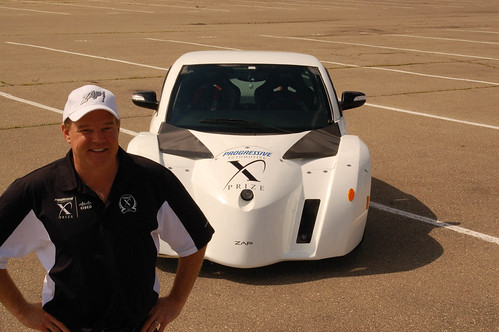 Al Unser Jr. joined the ZAP Alias Team in the Progressive Insurance  Automotive X PRIZE