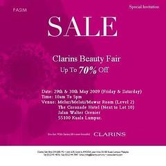 Clarins beauty fair