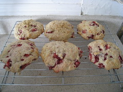 Strawberry-Sour Cream Scones
