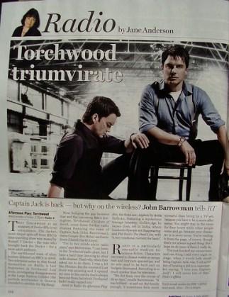 RADIO TIMES - Torchwood Radio Plays
