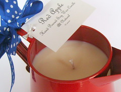 Red Apple Candle
