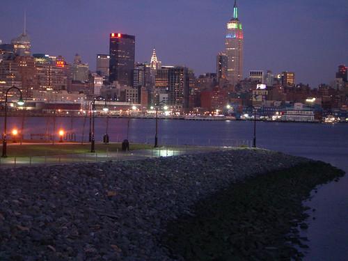 Manhattan skyline de noche
