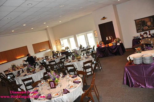 Dining room before the guests and couple arrive