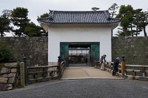 Cathy at the Nijo Castle in Kyoto