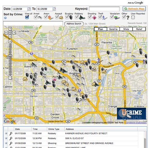 Anaheim Crime Map - Showing Crime in Anaheim, CA - Crime Statistics - Crime Alerts - Crime Stops Here by you.