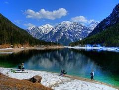 Fishing at Plansee, Tyrol