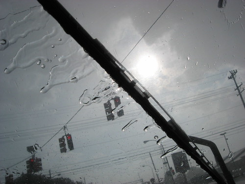 This is what the sun looks like through a torrential downpour.
