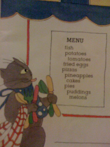 the hungry cat - menu