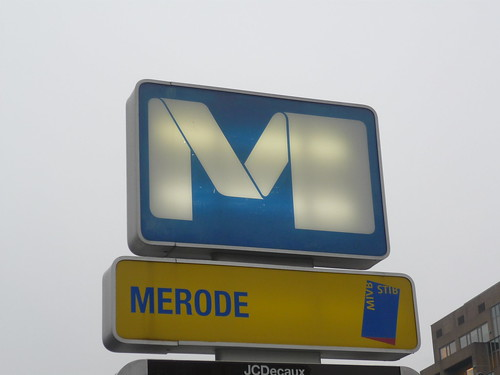 A Brussels metro sign
